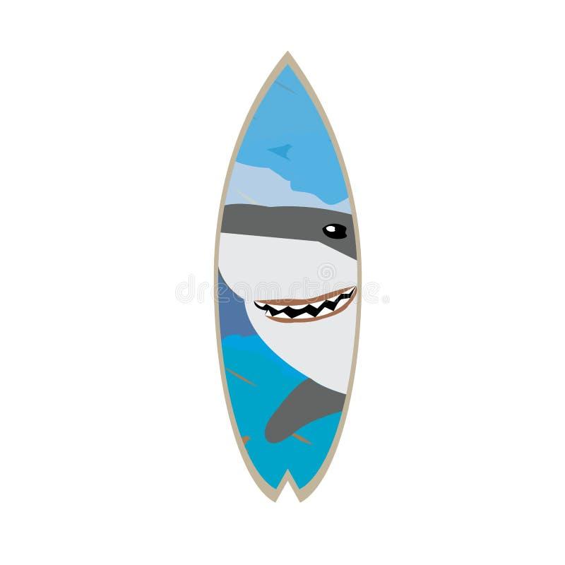 Изолированный покрашенный surfboard иллюстрация вектора