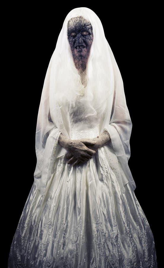 Изолированный призрак зомби стоковое изображение