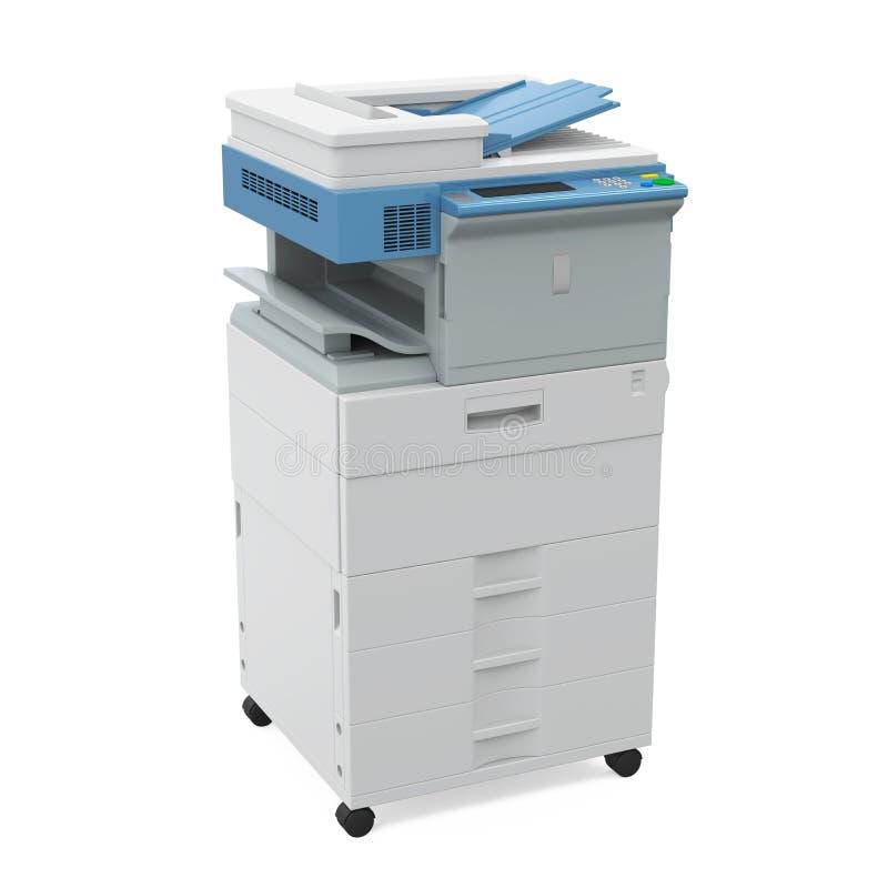 Изолированный принтер офиса многофункциональный иллюстрация вектора
