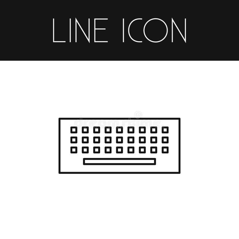 Изолированный план клавиатуры Элемент вектора кнопочной панели можно использовать для кнопочной панели, клавиатуры, идеи проекта  иллюстрация штока