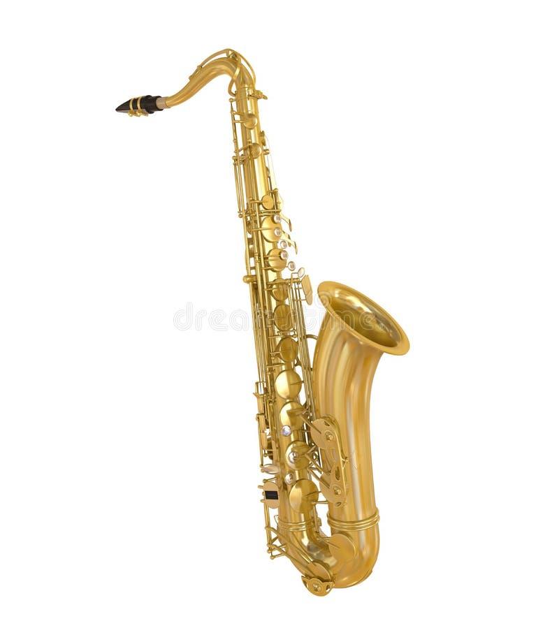 Изолированный саксофон бесплатная иллюстрация