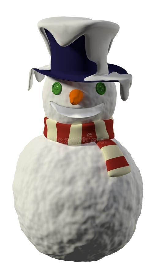 Изолированный снеговик иллюстрация вектора