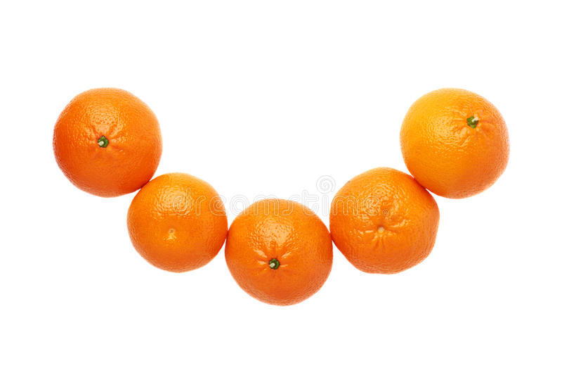 Изолированный состав 5 сочный плодоовощей tangerines стоковая фотография
