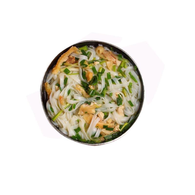 Изолированный суп лапши цыпленка pho Ханоя стоковое изображение rf