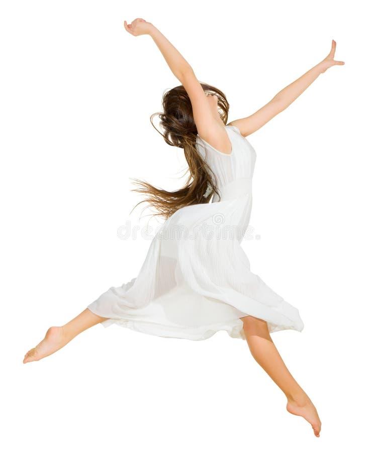 Изолированный танцор маленькой девочки стоковое изображение