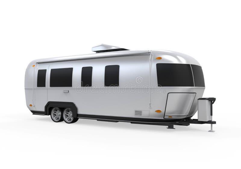 Изолированный турист Airstream иллюстрация штока