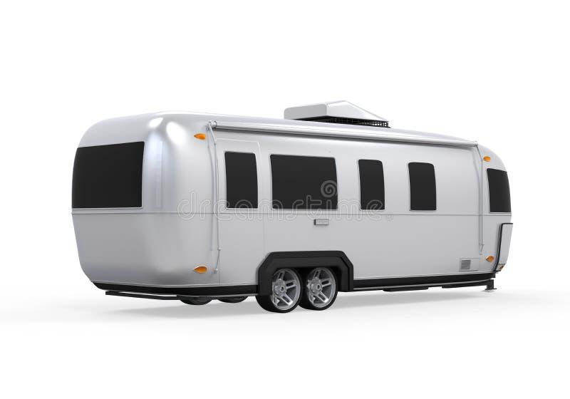 Изолированный турист Airstream иллюстрация вектора