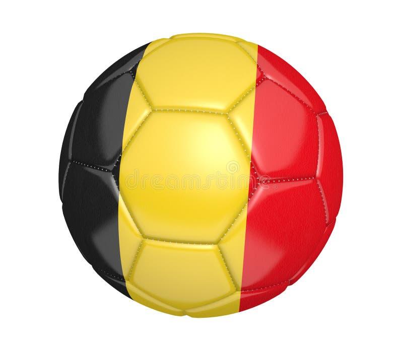 Изолированный футбольный мяч, или футбол, с флагом страны Бельгии иллюстрация штока