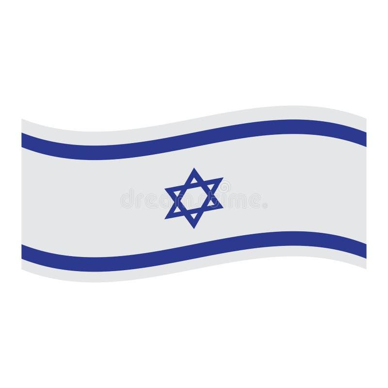 Изолированный флаг Израиля иллюстрация штока
