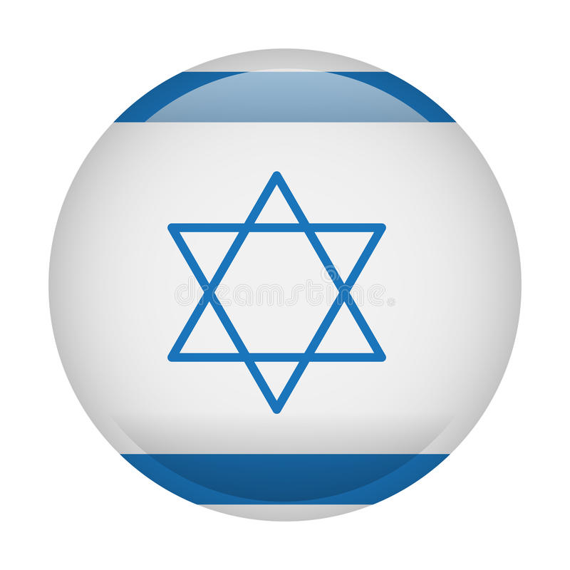 Изолированный флаг Израиля иллюстрация вектора
