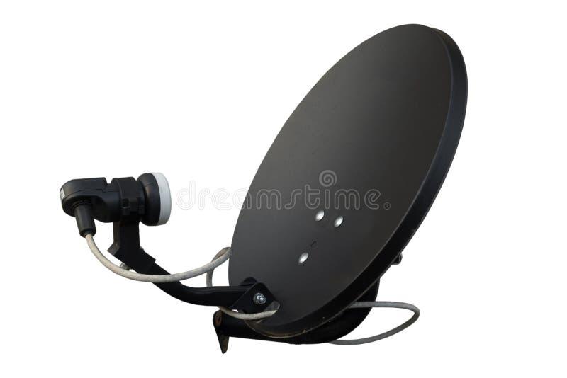 Изолированный черный спутник на белой предпосылке стоковые изображения rf