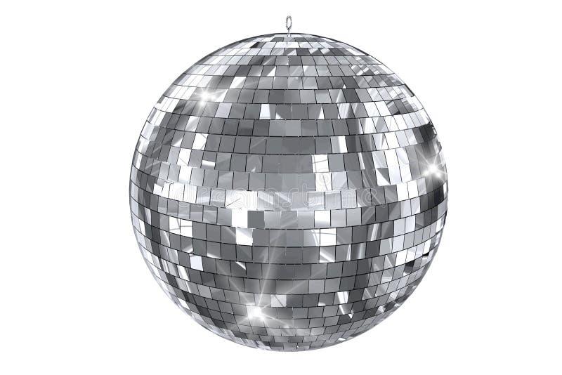 Изолированный шарик диско иллюстрация штока
