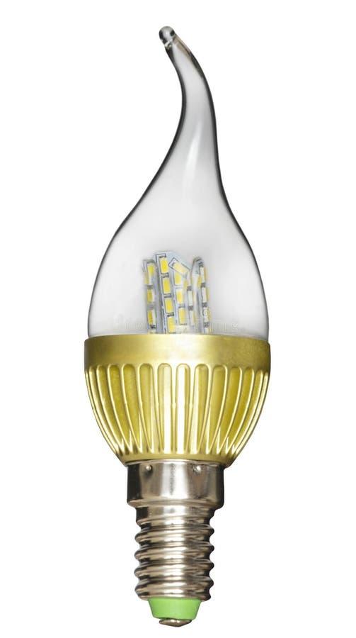Изолированный шарик свечи Творческая лампа приведенная формы стоковое фото rf