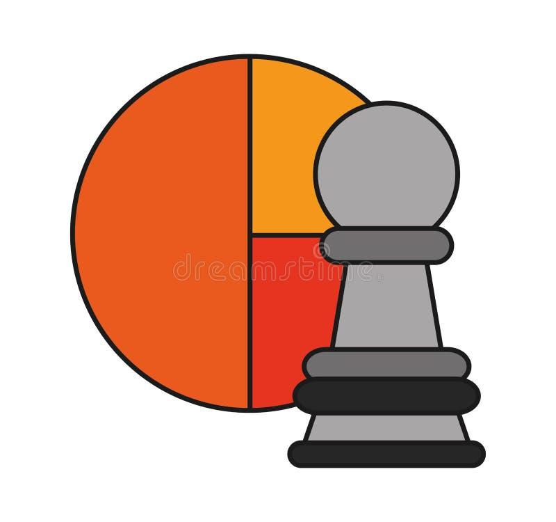 Изолированный шахмат и infographic дизайн иллюстрация вектора