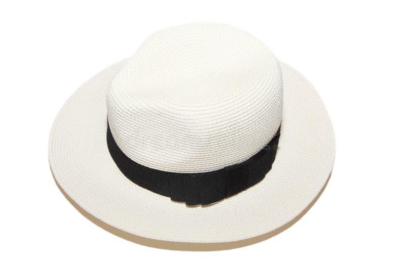 Шлем пляжа женщины белый стоковые изображения