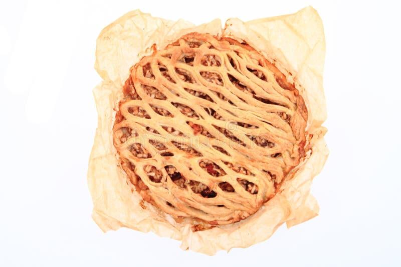 Изолированный яблочный пирог стоковая фотография rf