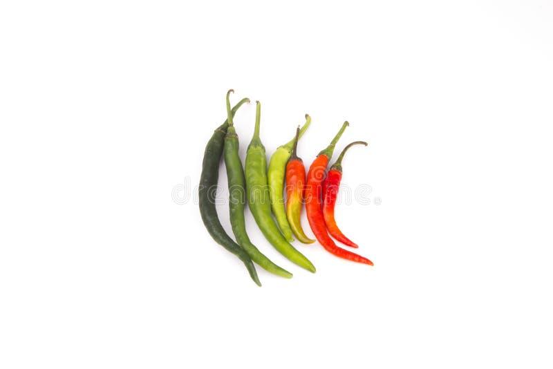 изолированный chili предпосылки перчит белизну стоковое изображение