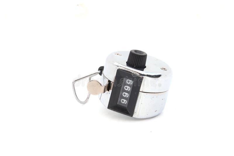 Изолированный clicker руки встречный стоковое фото