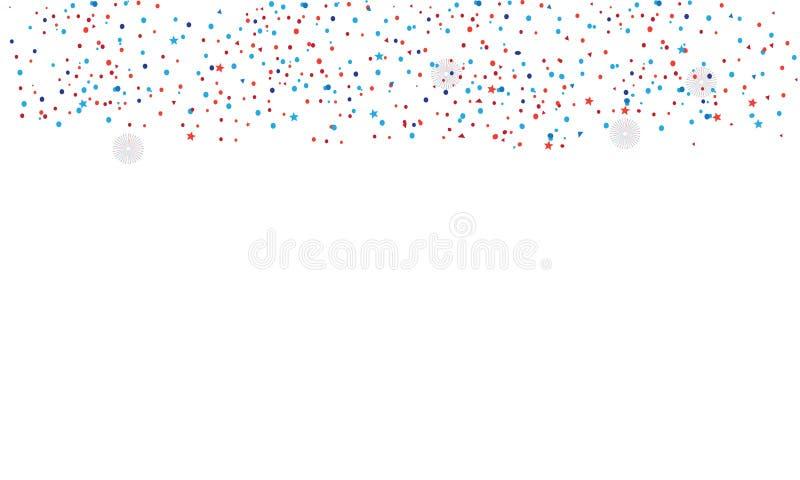 Изолированный Confetti иллюстрация штока