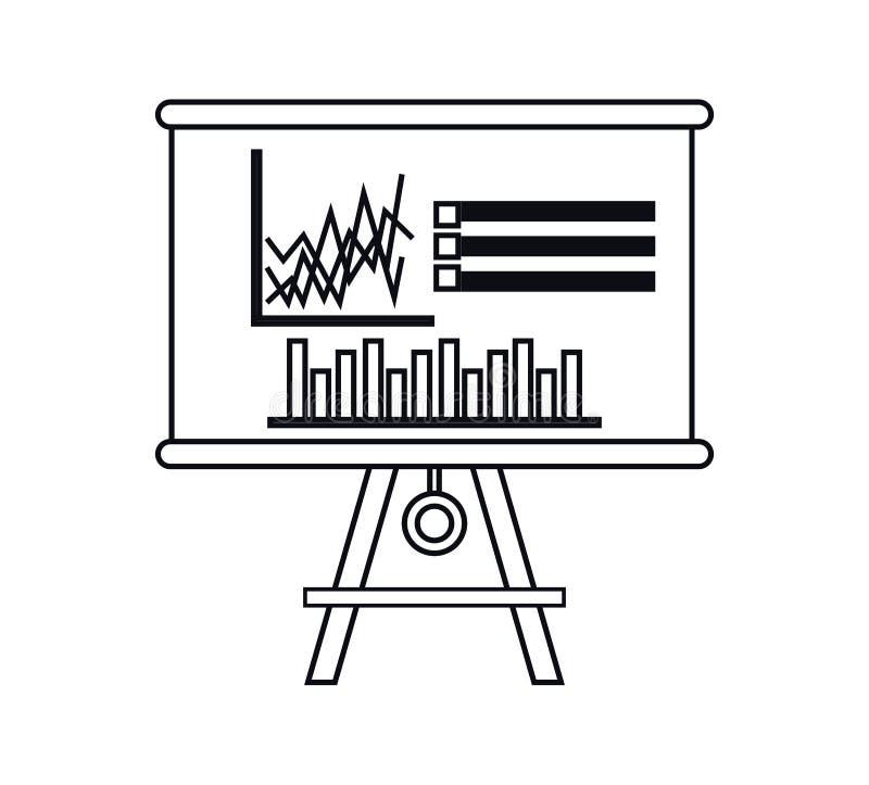 Изолированный infographic дизайн доски бесплатная иллюстрация