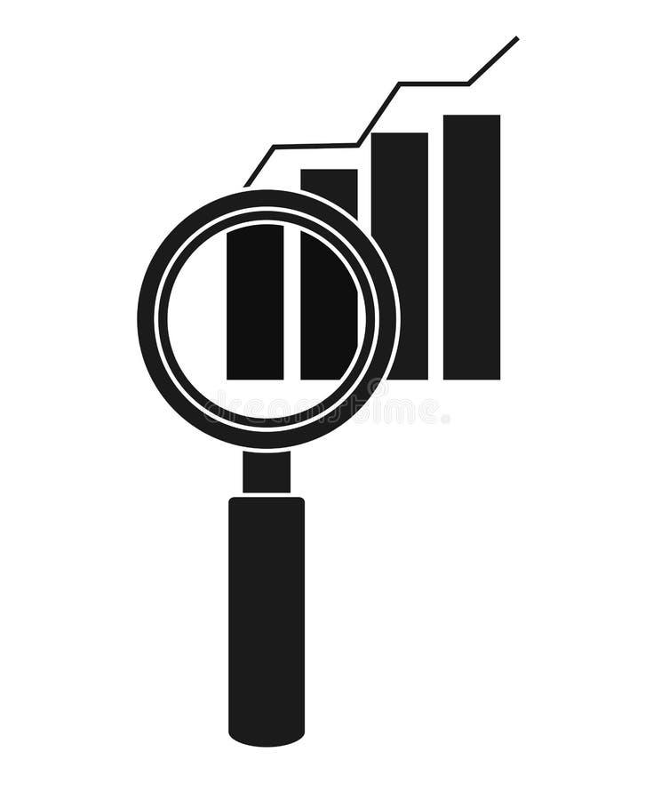 Изолированный infographic дизайн lupe бесплатная иллюстрация