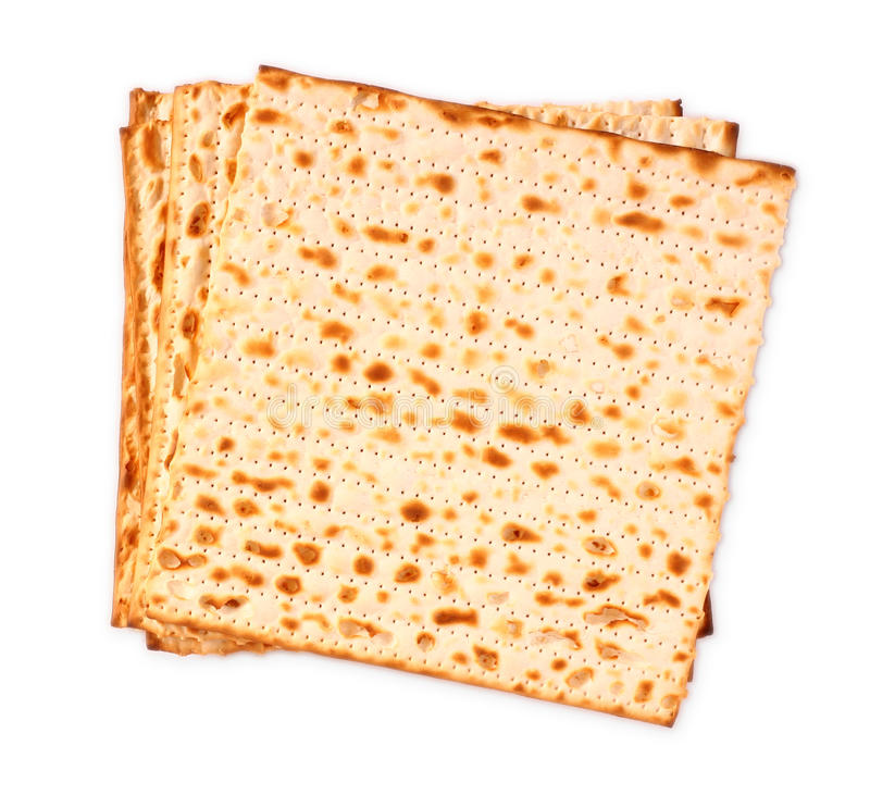изолированный matzoh (еврейский хлеб еврейской пасхи) стоковое фото rf