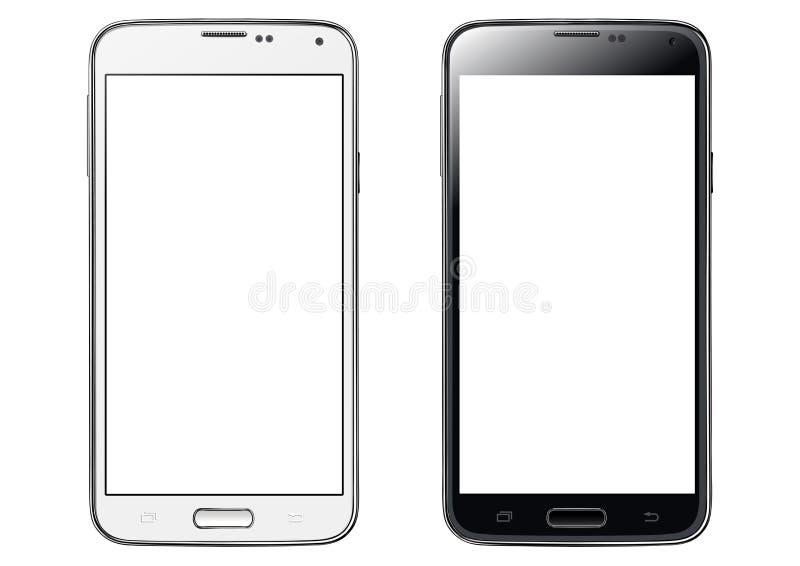 Изолированный smartphone сенсорного экрана иллюстрация штока