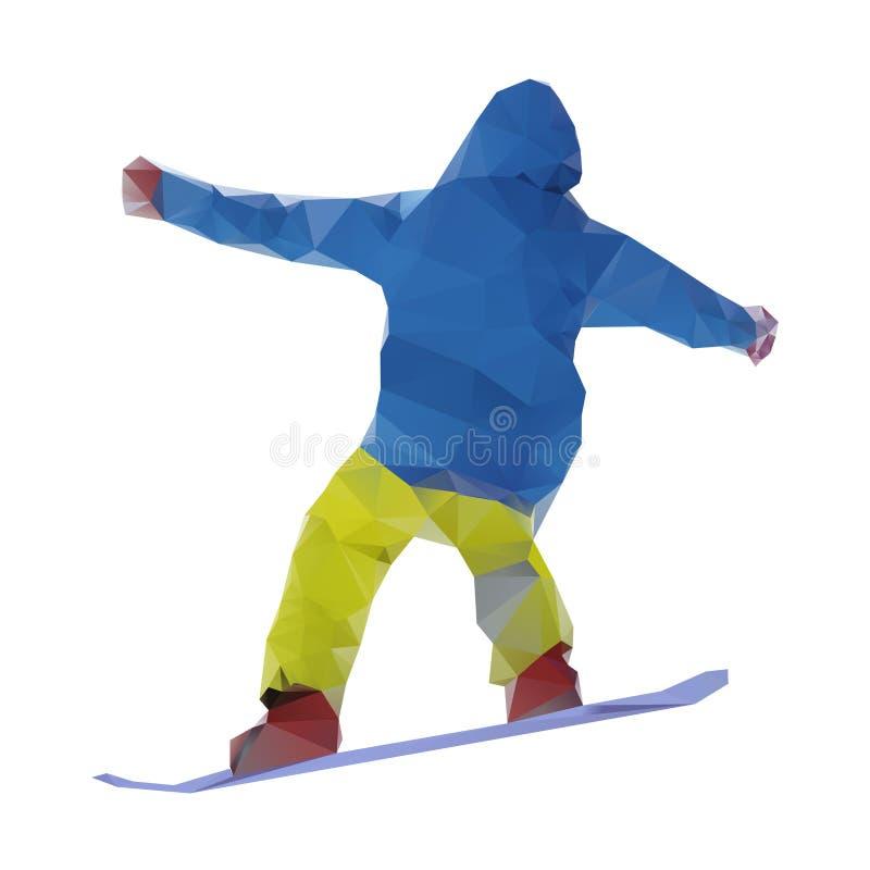 Изолированный snowboarder, вектор иллюстрация штока