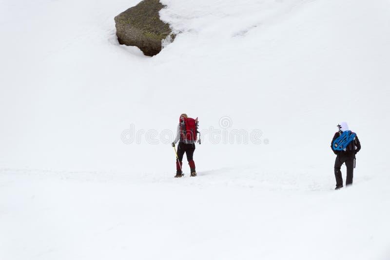 Изолированный trekker ботинка снега стоковые фотографии rf