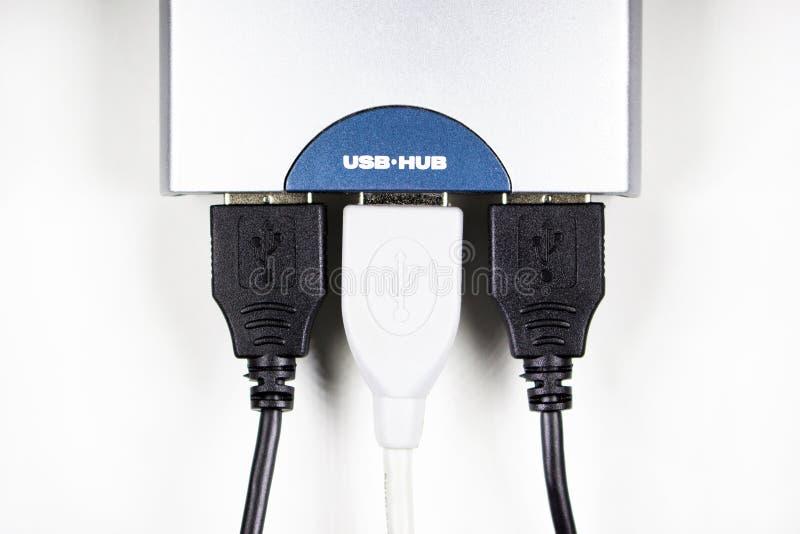 изолированный USB-эпицентр деятельности стоковое изображение rf