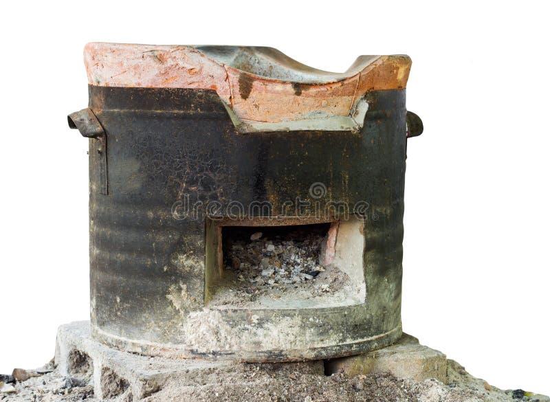 Изолирует старые золы плиты стоковые изображения rf