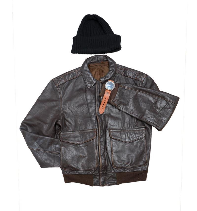 Изолят кожаной куртки моды стоковые фото