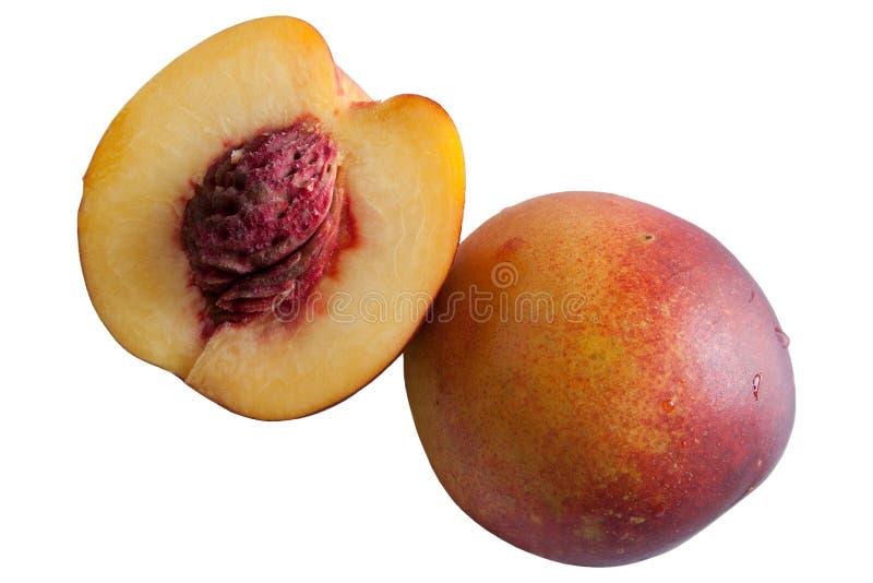 Изолят персика на белой предпосылке стоковое изображение
