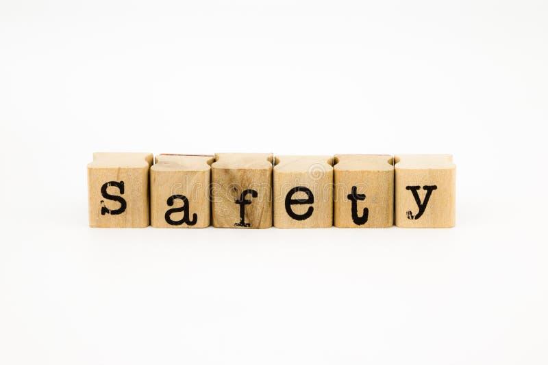 Изолят формулировок безопасности на белой предпосылке стоковая фотография rf