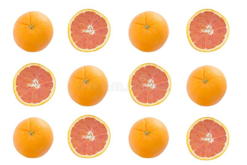 Изолят Cara оранжевый на белой предпосылке, над взглядом стоковые фотографии rf