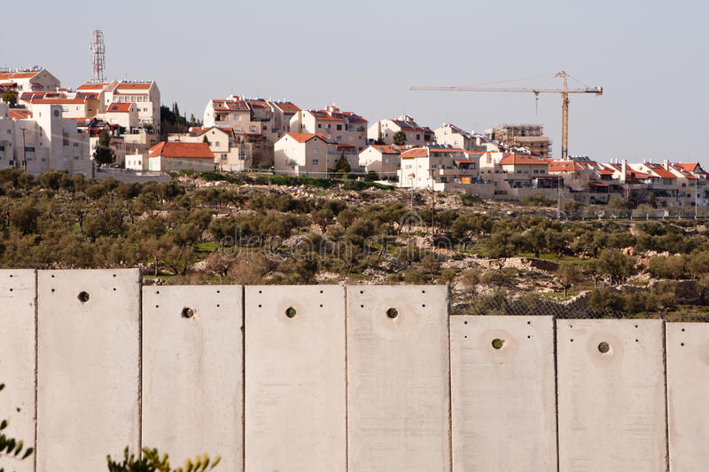 израильская стена выселка разъединения стоковое фото rf