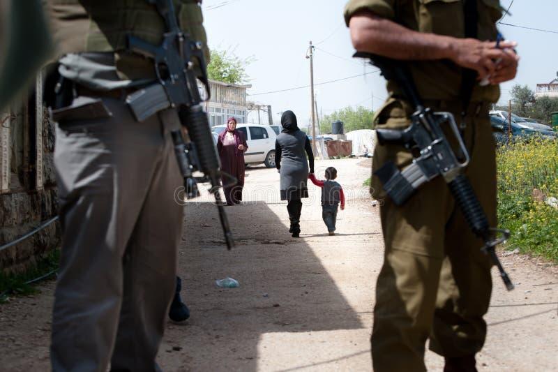 израильские воины Палестины занятия стоковая фотография rf