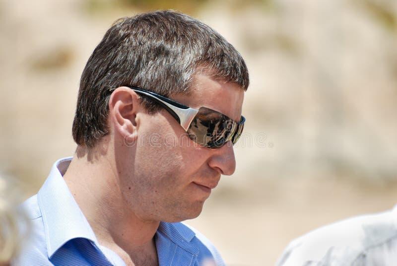 Израильский политик Stas Misezhnikov, бывший министр туризма стоковая фотография rf