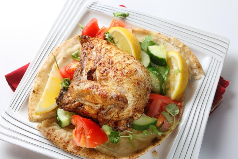 Израильский цыпленок барбекю стоковое фото rf