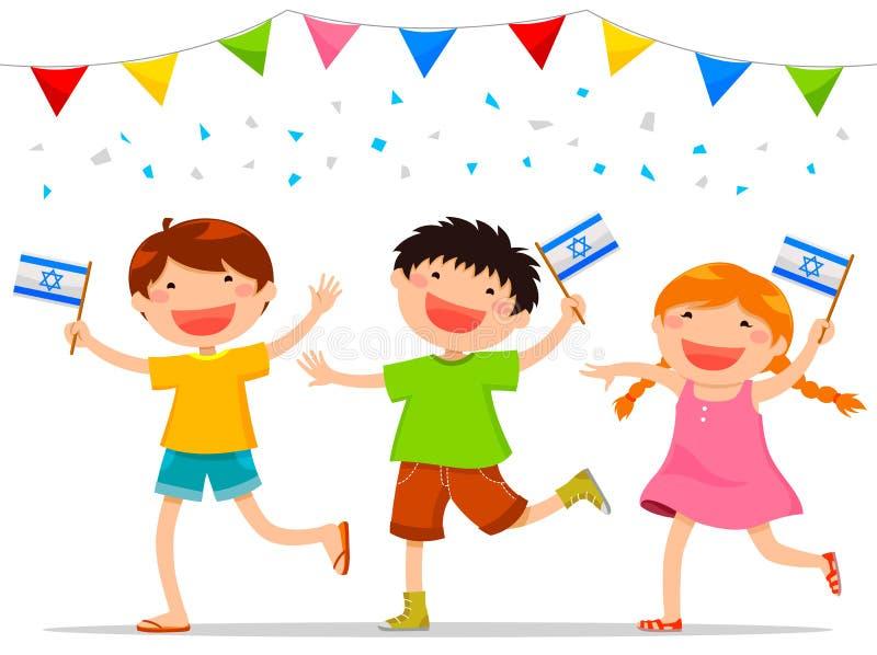 Израильские дети иллюстрация вектора