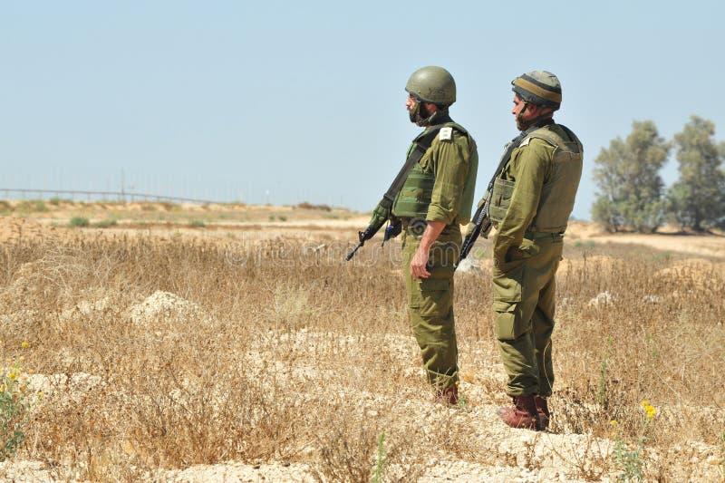 Израильские солдаты стоковые изображения rf
