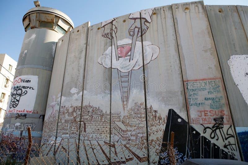 Израильский барьер западного берега  стоковая фотография