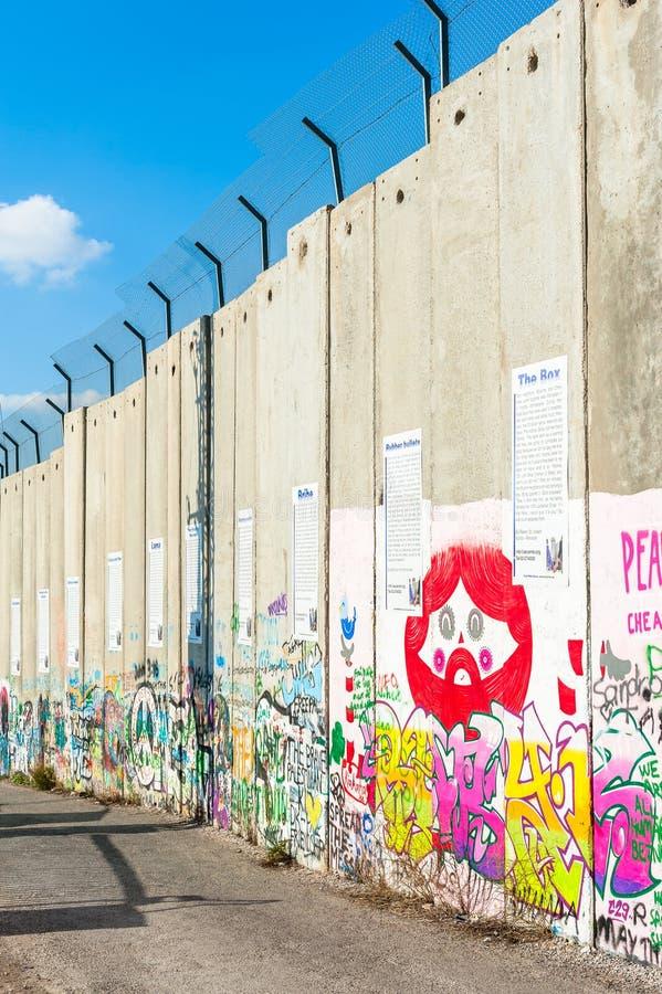 Израильский барьер западного берега стоковое фото