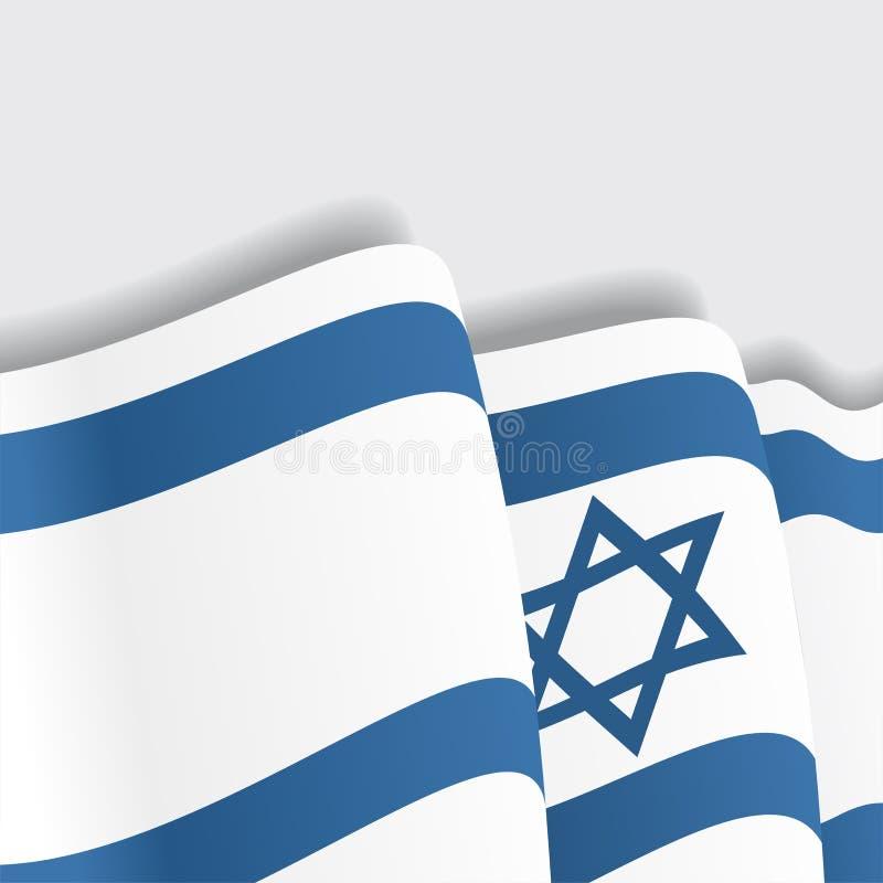 Израильский развевая флаг также вектор иллюстрации притяжки corel иллюстрация вектора
