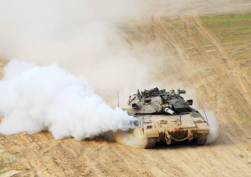 Израильский танк IDF - Merkava стоковая фотография