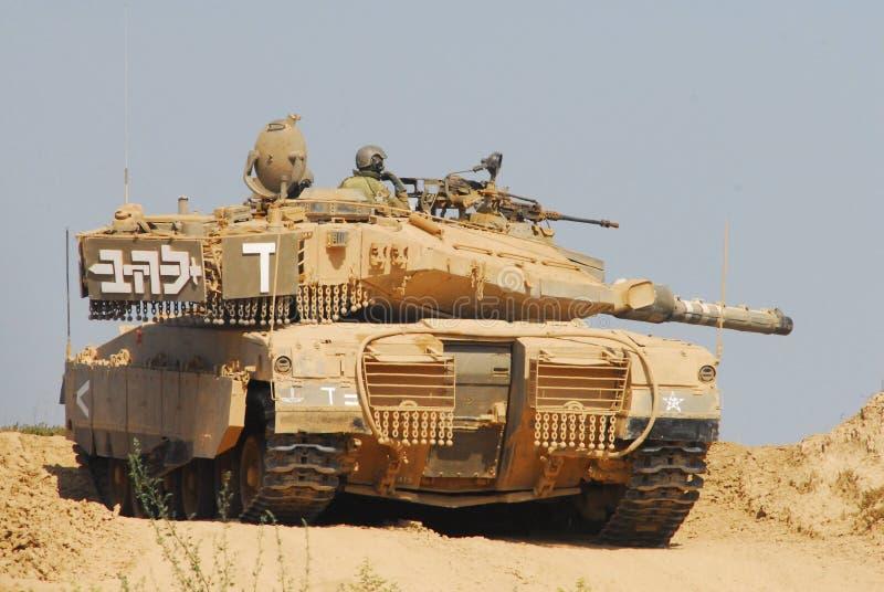Израильский танк IDF - Merkava стоковые изображения rf