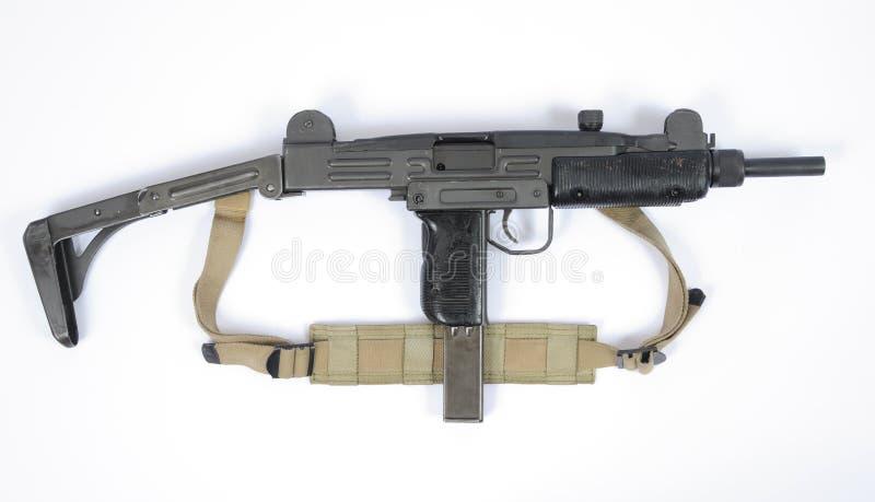 Израильский удлиненный запас пулемета UZI под стоковые фотографии rf