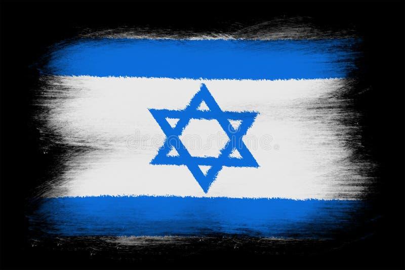 Израильский флаг иллюстрация вектора