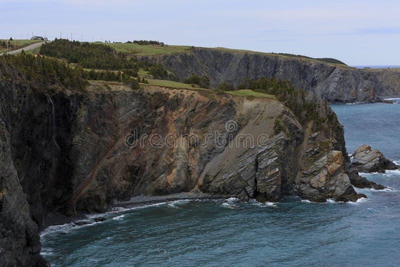 Изрезанная береговая линия Ньюфаундленда стоковые фотографии rf