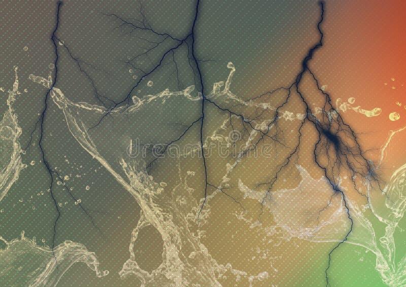 Изумительная вода, обои молнии стоковое фото